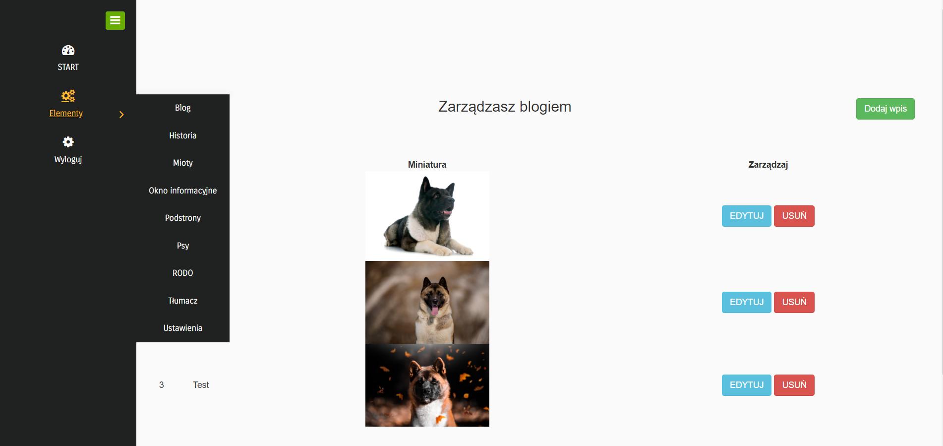Strona www dla hodowli
