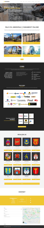 Strona www dla firmy budowlanej - GRAINBUD